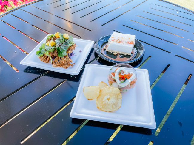All three menu items from the Mele Kalikimaka Holiday Kitchen