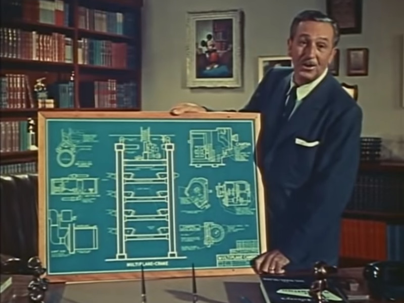 Walt Disney explaining the animation system used by Snow White and countless other animated films.