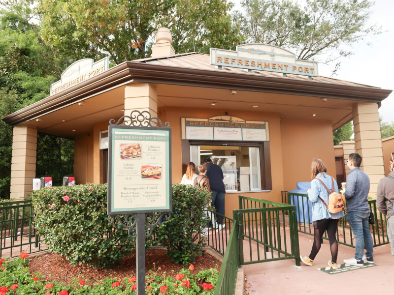 The Refreshment Port at the 2021 EPCOT Festival of the Arts
