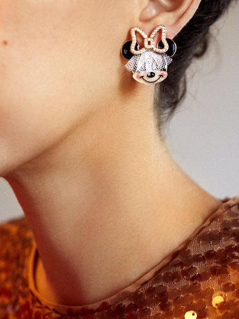 Bridal Minnie Mouse Studs-1