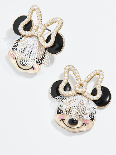 Bridal Minnie Mouse Studs