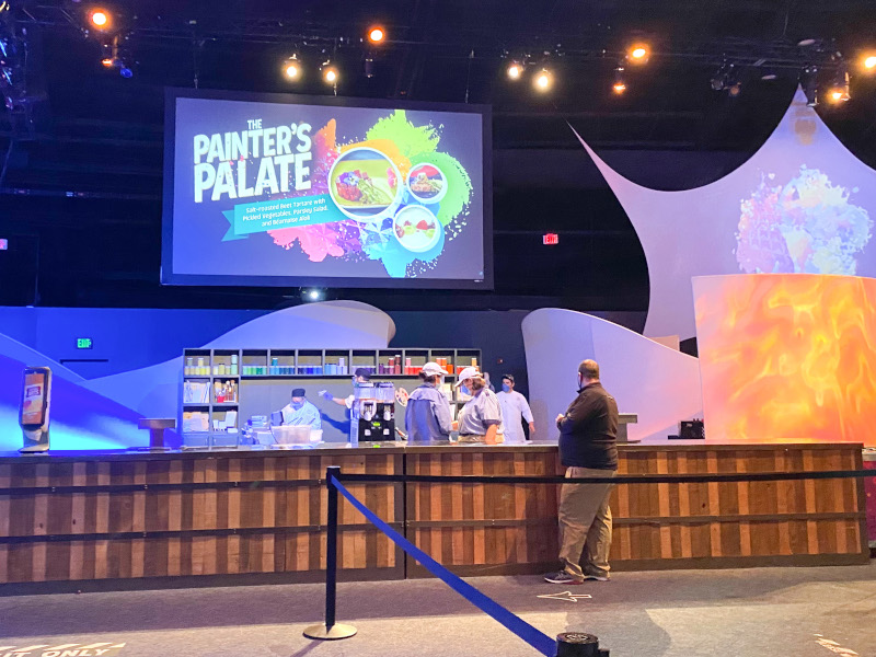 Painter's Palate booth at the 2021 EPCOT Festival of the Arts