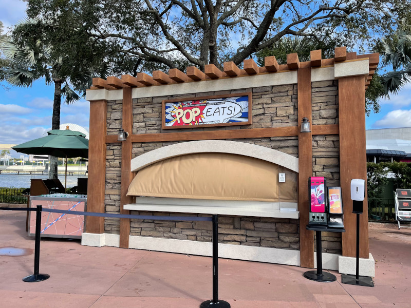 Pop Eats Booth at the 2021 EPCOT Festival of the Arts