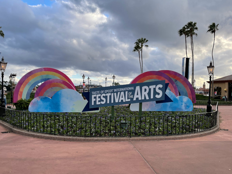 A banner for the 2021 EPCOT festival of the Arts