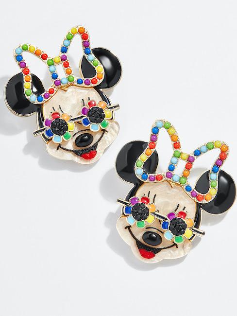 Rainbow Minnie Mouse Studs 1