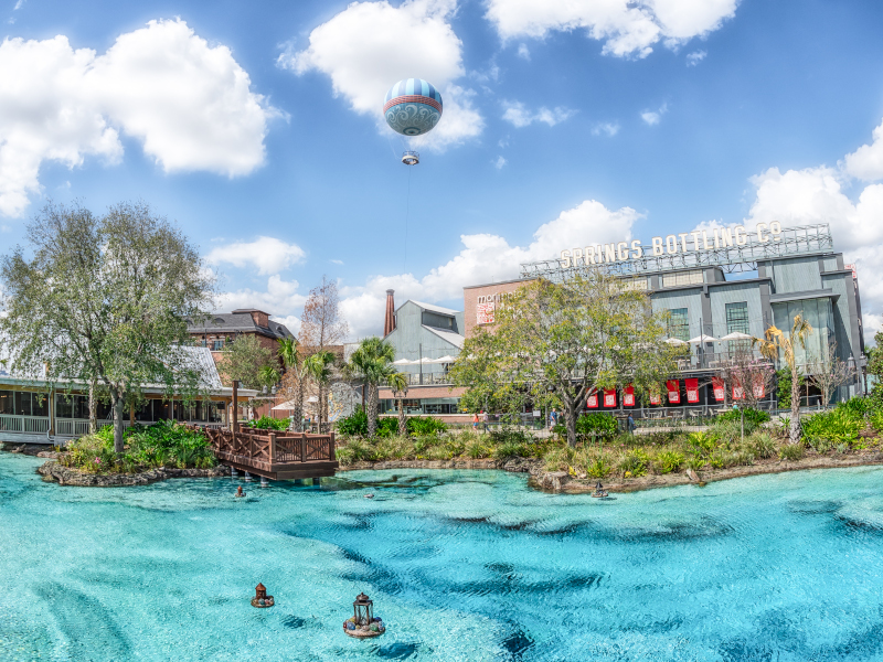 A view of the Disney Springs Area