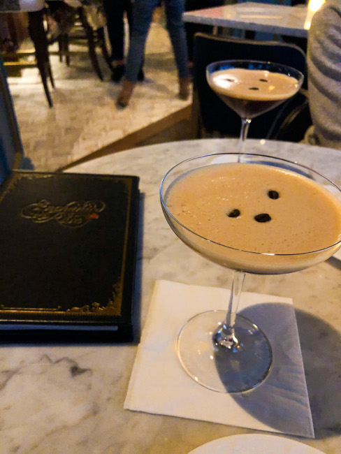 The Espresso Martini at the Enchanted Rose