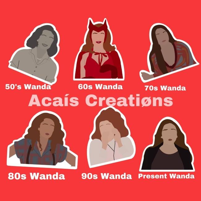 wandavision stickers