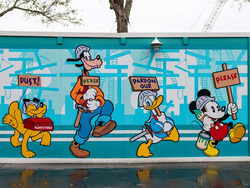 Disney World Refurbishments Construction Wang