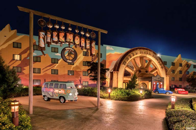 Fillmore's photo op area at Disney's Art of Animation Resort