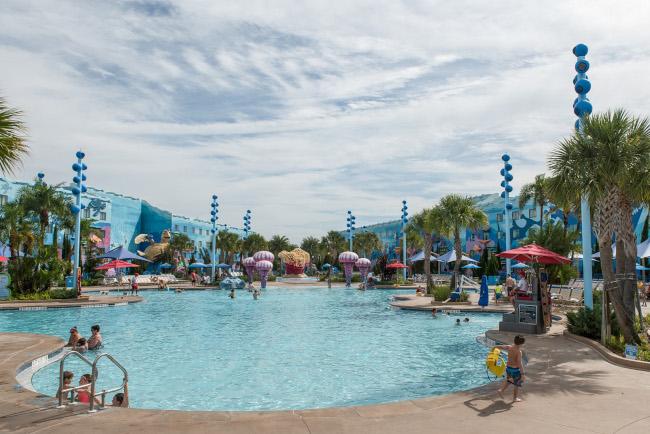 The main pool at Disney's Art of Animation Resort