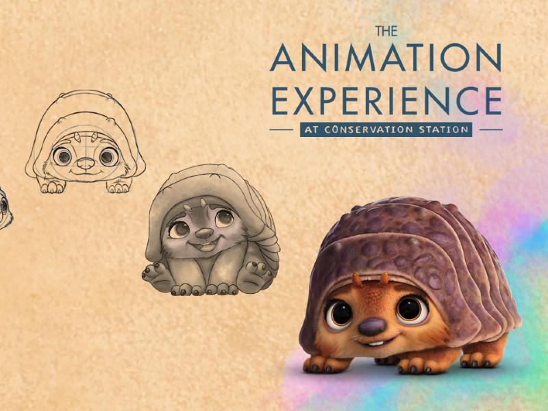 draw tuk tuk from raya and the last dragon at the animation experience