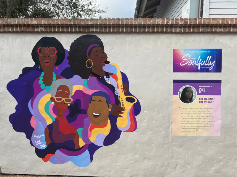A Soul Mural for Soufully at Disney Springs by Bee Harris