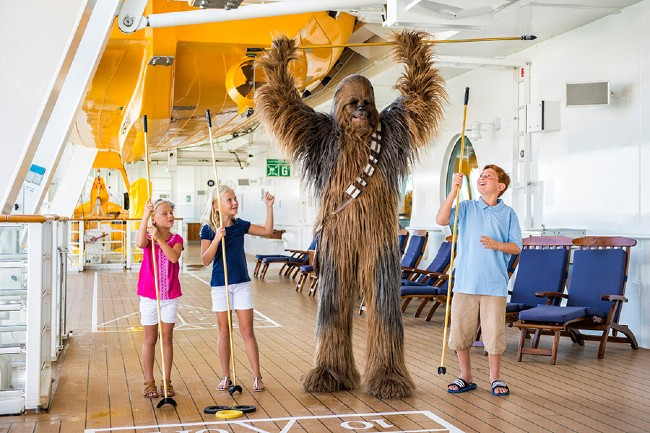chewbacca at star was day at sea on disney cruise line