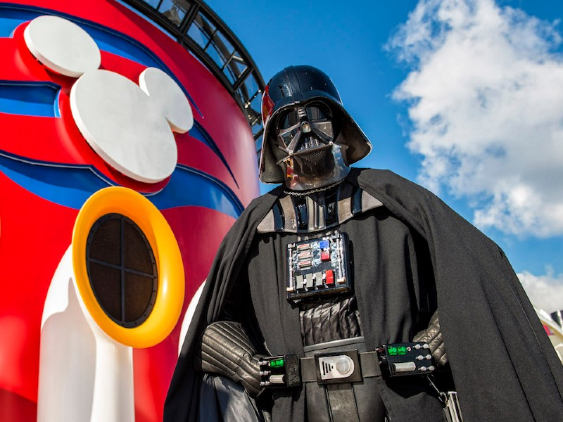 darth vader at star wars day at sea on disney cruise line