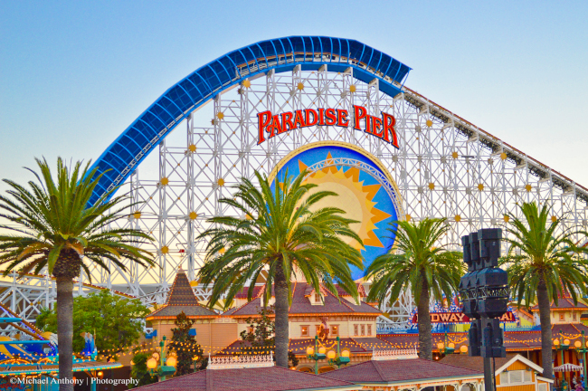 The California Screamin' Rollercoaster, one of Disney's Califonia Adventure's Opening Day Attractions