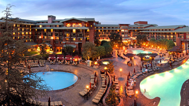 The Grand Californian Resort, which opened at the same time as Disney's California Adventure