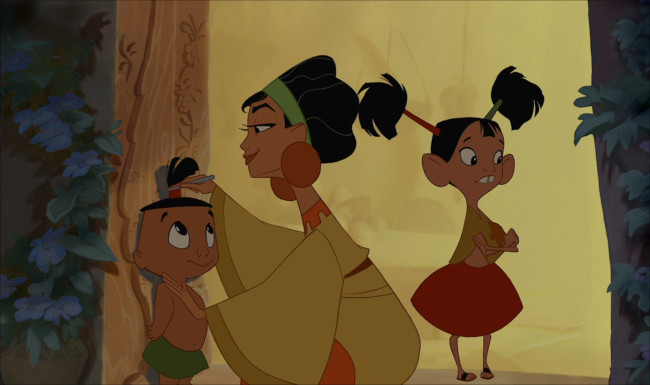 Chicha with her children - emperors new groove - disney animated classics