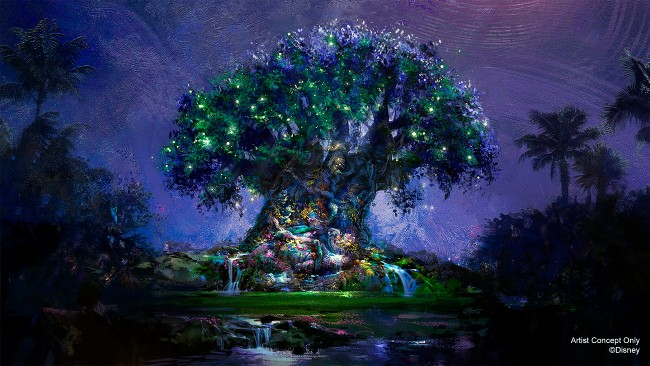 tree of life nighttime overlay for 50th anniversary