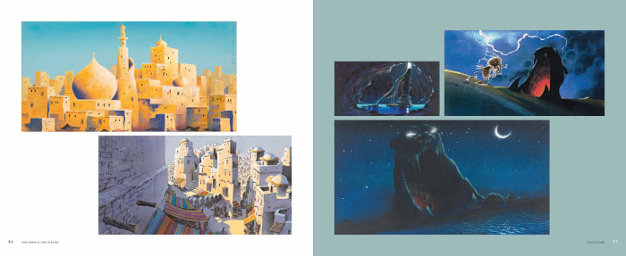 Concept art of scenes from Disney's Aladdin featured in Didier Ghez's They Drew as the Please
