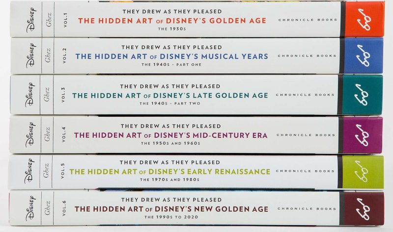 The separate books of 'They Drew as the Pleased' by Didier Ghez