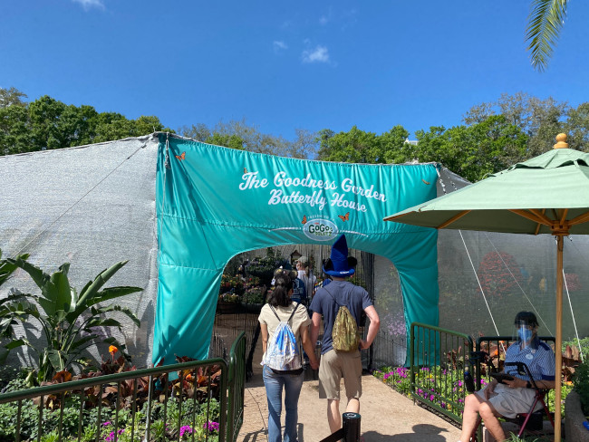 The entrance to the 2021 EPCOT Butterfly House