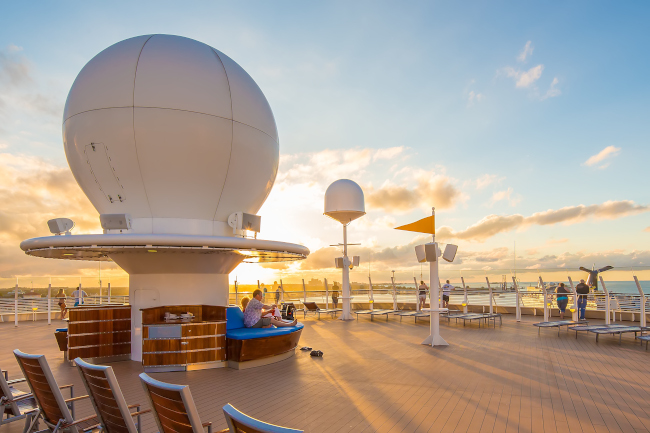 Aboard the deck of a Disney Cruise Line vessel