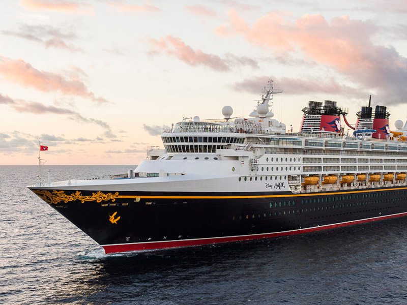 The bow of the Disney Magic