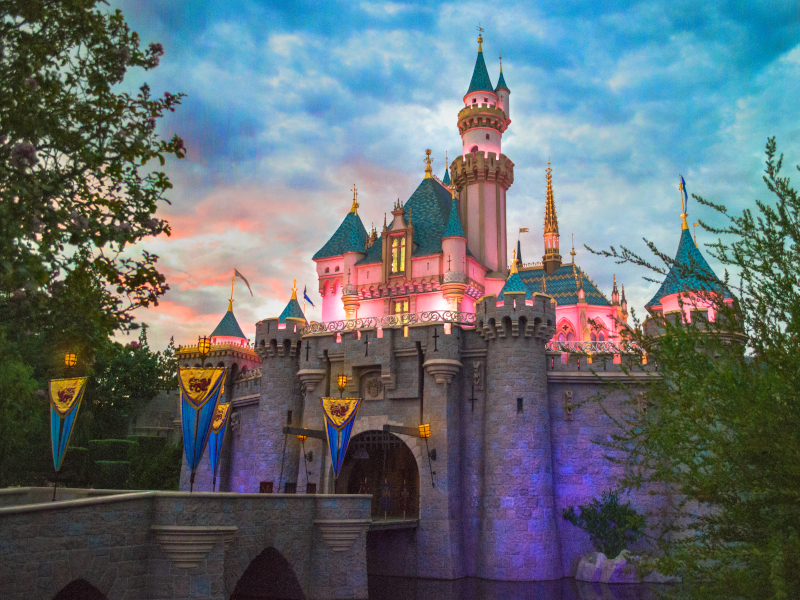 Sleeping Beauty Castle at Disneyland, which will be canceling annual passes