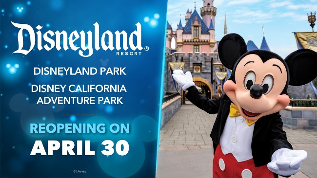 disneyland announces april 30 reopening date
