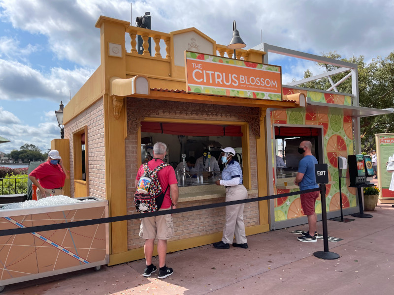 Citrus Blossom Booth at the 2021 EPCOT Flower and Garden Festival