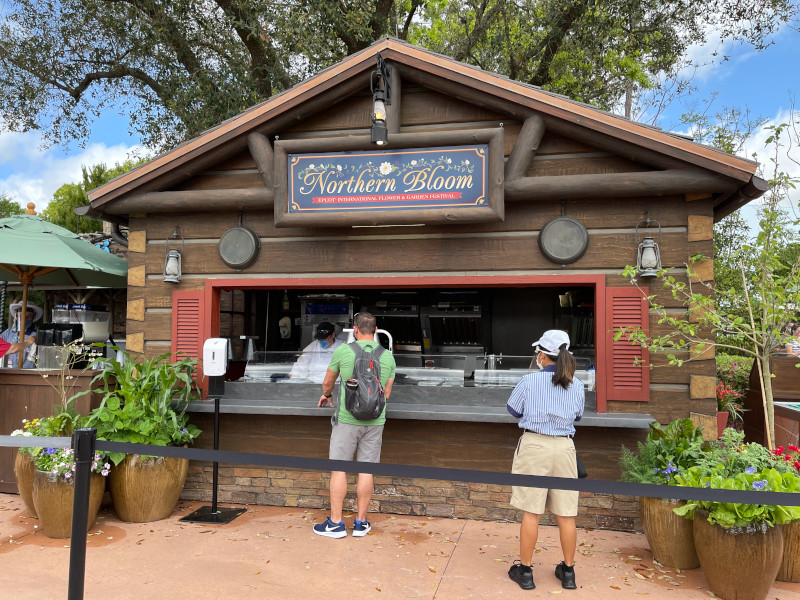 The Northern Bloom Booth at the 2021 EPCOT Flower and Garden Festival