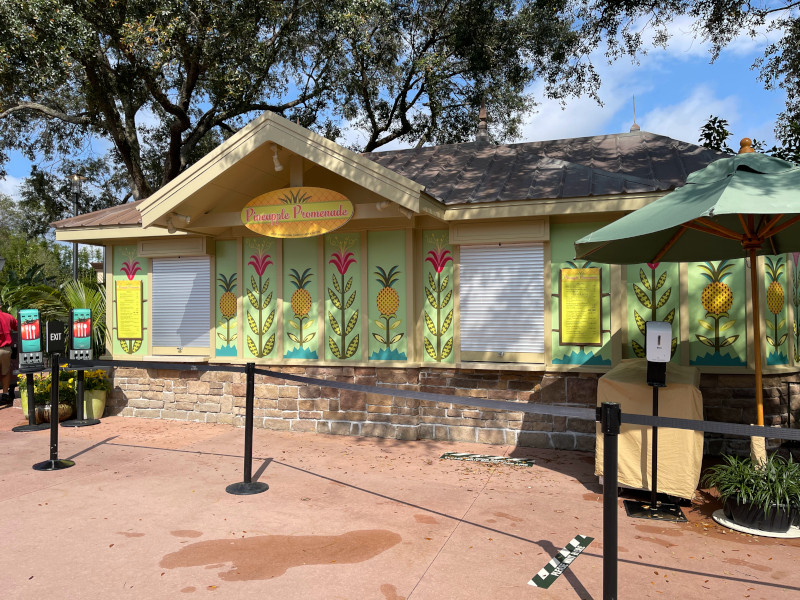 The Pineapple Promenade Booth at the 2021 EPCOT Flower and Garden Festival