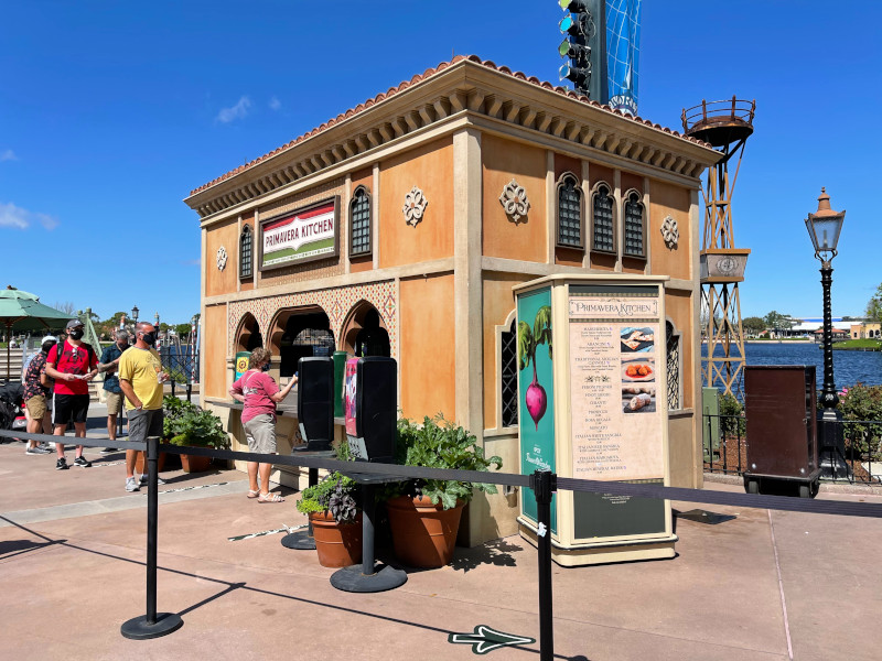 Primavera Kitchen Italy Booth at the 2021 EPCOT Flower and Garden Festival