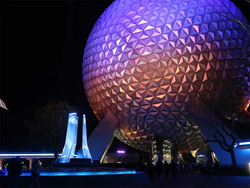 EPCOT Nighttime Lighting Entrance Featured Turner