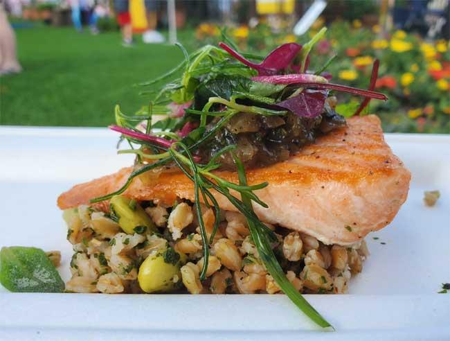 Flavor Full Seared Verlasso Salmon 2021 EPCOT Flower and Garden Festival Lazar
