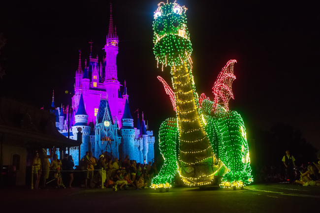 Dragon float in the Main Street Electrical Parade