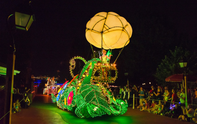 Tinkerbell in the Main Street Electrical parade