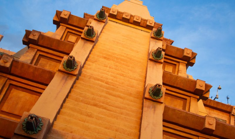 The Mexico Pavilion's pyramid at EPCOT