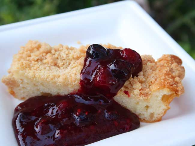 Mixed Berry Buttermilk Cake Pineapple Promenade Flower and Garden Festival menu 2021 EPCOT Turner