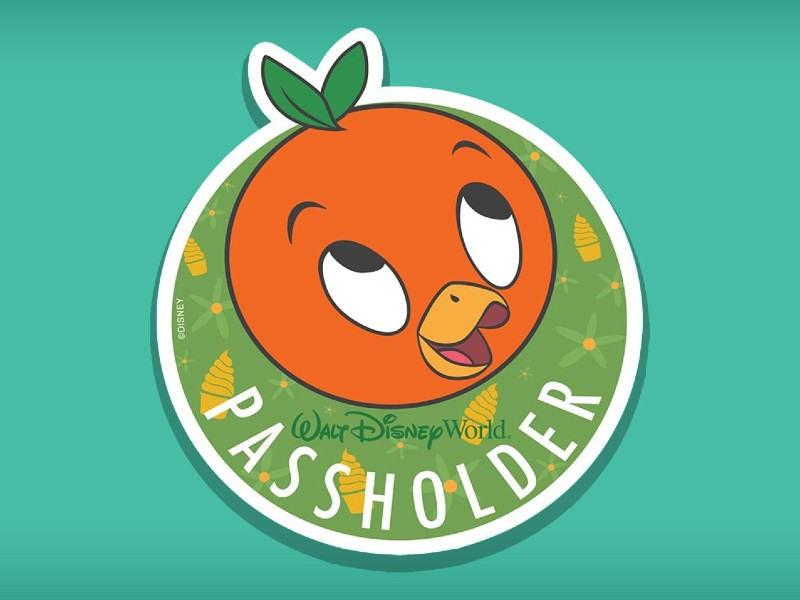 orange bird passholder magnet