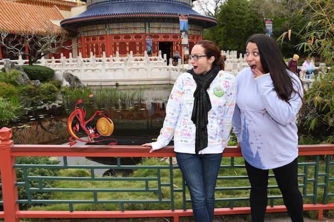 Mushu PhotoPass Magic Shot at EPCOT's China pavilion