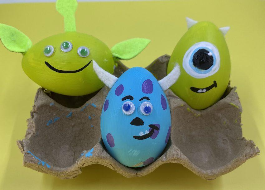 Pixar Painted Easter Eggs
