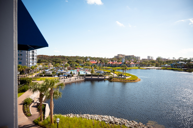 A view of Disney's Riviera Resort from afar