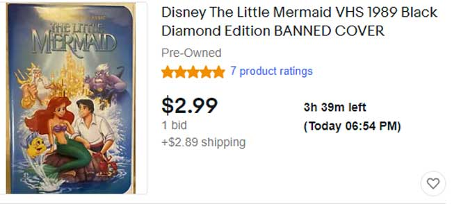 Rare-Little Mermaid VHS Banned Cover