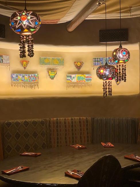 Light fixtures at Sanaa at Animal Kingdom Lodge