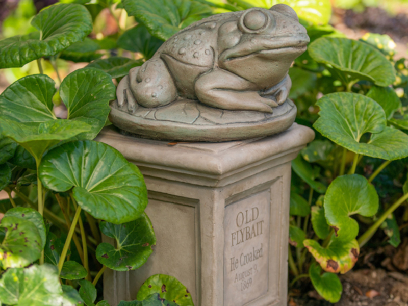 """A new gravestone for """"Old Flybait"""" is being added to the line queue for Disneyland's Haunted Mansion"""