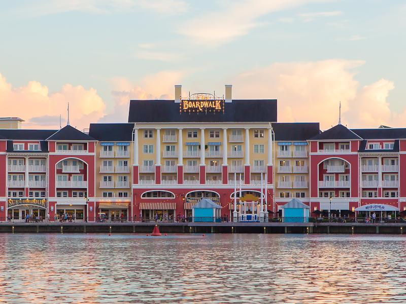An exterior view of Disney's Boardwalk Resort