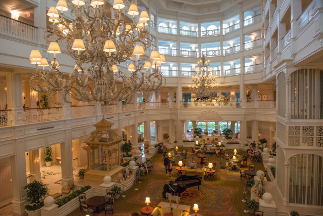 The main lobby of Disney's Grand Floridian Resort and Spa