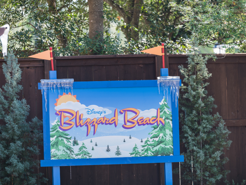 Sign for Blizzard Beach